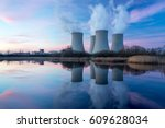nuclear power plant after... | Shutterstock . vector #609628034