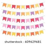 flag bunting banner spring... | Shutterstock .eps vector #609629681