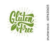 Gluten Free. Hand Drawn...