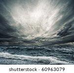 Big Ocean Wave Breaking The...