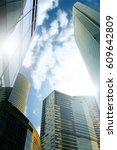 skyscapers and sunshine | Shutterstock . vector #609642809