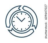 circle arrows around clock...   Shutterstock .eps vector #609647027