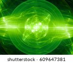 Green Glowing Fusion In Space ...