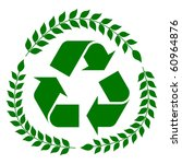 Green Recycling Concept Sign