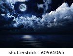 full moon in night sky over... | Shutterstock . vector #60965065