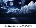 Full Moon In Night Sky Over...