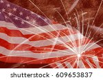 fireworks against united states ... | Shutterstock . vector #609653837