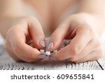contraceptive pill in female... | Shutterstock . vector #609655841