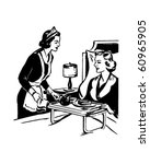 nursing care   retro clip art | Shutterstock .eps vector #60965905