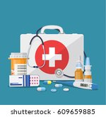medical care concept. medical... | Shutterstock . vector #609659885