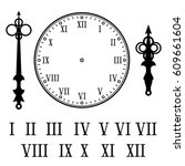 clock with roman numerals. with ... | Shutterstock .eps vector #609661604
