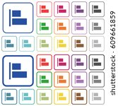align to left color flat icons... | Shutterstock .eps vector #609661859