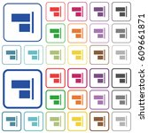 align to right color flat icons ... | Shutterstock .eps vector #609661871
