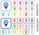 vehicle gps map location color... | Shutterstock .eps vector #609661919