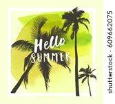 hello summer. modern...   Shutterstock .eps vector #609662075