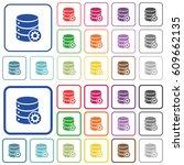 database settings color flat... | Shutterstock .eps vector #609662135
