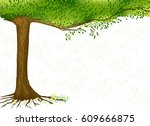white background with green... | Shutterstock .eps vector #609666875