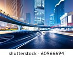 the light trails on the modern... | Shutterstock . vector #60966694