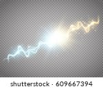 collision of two forces with... | Shutterstock .eps vector #609667394