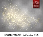 vector golden glittering star... | Shutterstock .eps vector #609667415