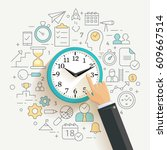 time management concept... | Shutterstock .eps vector #609667514