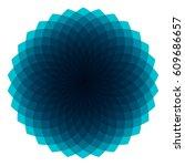 blue geometric sunburst  ... | Shutterstock .eps vector #609686657