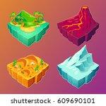 vector 3d isometric... | Shutterstock .eps vector #609690101