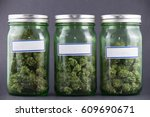assorted cannabis bud strains... | Shutterstock . vector #609690671