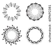 round frames  wheels or... | Shutterstock .eps vector #609692381