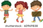 illustration of a kids on a... | Shutterstock . vector #60969838