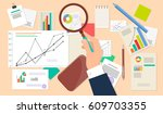business analyst  financial... | Shutterstock .eps vector #609703355