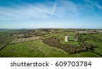 Small photo of Hadleigh Castle, Essex, England. Aerial drone view over the Essex countryside with the 13th Century ruins of Hadleigh Castle visible.
