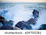 Sea And Rocks  Selective Focus