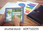 close up of login page against...   Shutterstock . vector #609710255