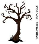 halloween tree vector | Shutterstock .eps vector #60971065
