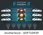 abstract 3d digital... | Shutterstock .eps vector #609710939