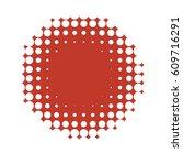 red round halftone pattern.... | Shutterstock .eps vector #609716291