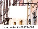 mock up. rectangular shape... | Shutterstock . vector #609716501