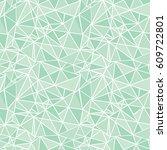 vector mint green geometric...   Shutterstock .eps vector #609722801