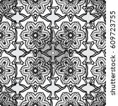 damask seamless pattern for... | Shutterstock .eps vector #609723755