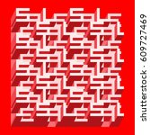 sale banner   different depth... | Shutterstock .eps vector #609727469