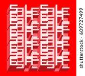 sale banner   different depth... | Shutterstock .eps vector #609727499