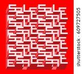 sale banner   different depth... | Shutterstock .eps vector #609727505
