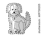 cute dog cartoon icon image    Shutterstock .eps vector #609730205