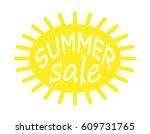 summer sale. white background | Shutterstock .eps vector #609731765