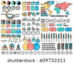 big business flat infographic... | Shutterstock .eps vector #609732311