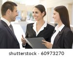 young business people talk... | Shutterstock . vector #60973270