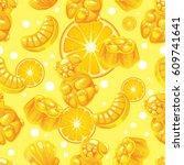 seamless vector pattern of... | Shutterstock .eps vector #609741641