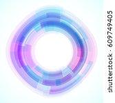 geometric frame  vector... | Shutterstock .eps vector #609749405