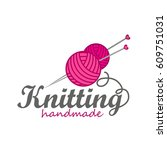 knitting logo elements | Shutterstock .eps vector #609751031